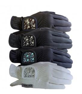"""Перчатки для верховой езды """"A Touch of MagicTack"""" со стразами"""