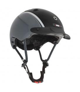 Черно-серый детский шлем Casco Nori