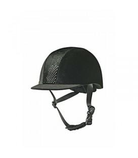 Черный шлем Velvet Dot от HKM